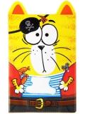 """Обложка для паспорта """"Кот настоящий пират"""""""