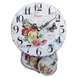 """Настенные часы с маятником """"Time Roses"""""""