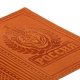 Обложка для паспорта из натуральной кожи Россия, вид 4